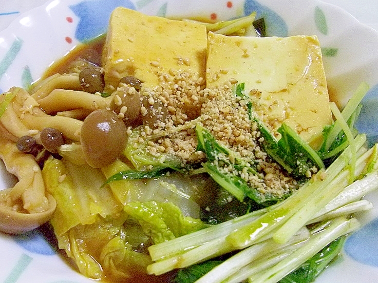 豆腐と野菜de胡麻味噌カレー鍋♪
