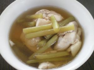 蕗と鶏肉の煮物
