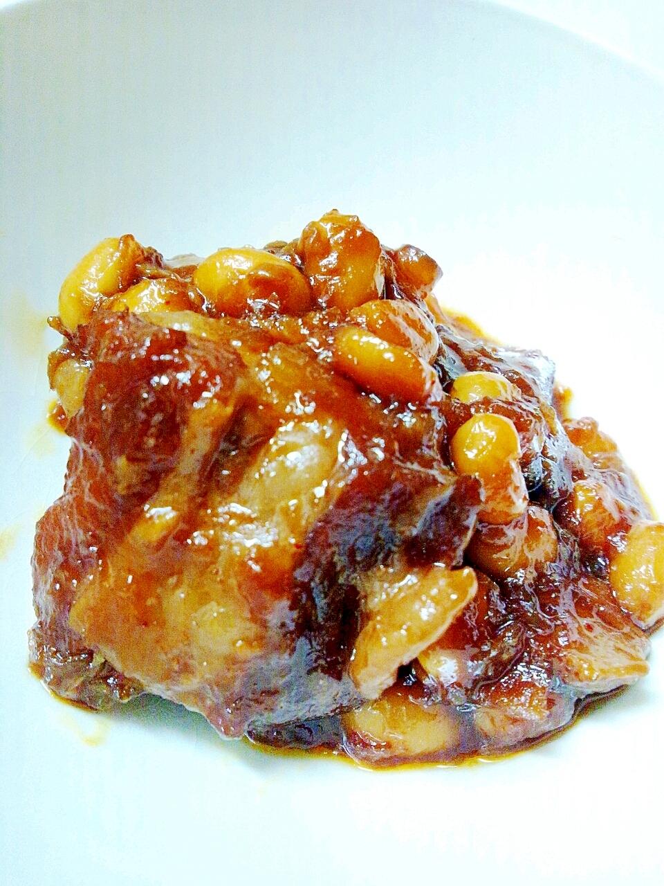 豚軟骨と大豆のしょうゆ糀煮