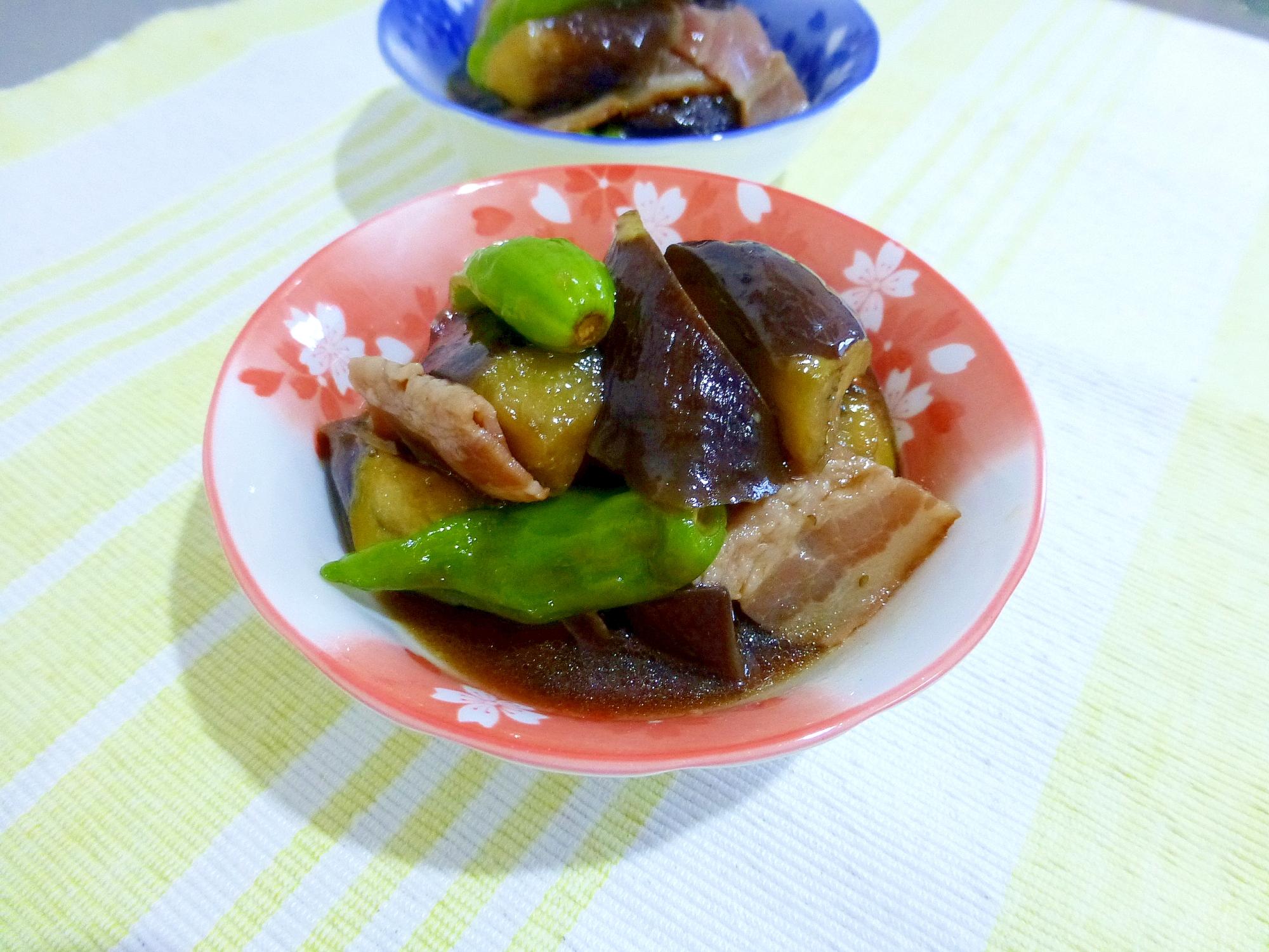 茄子とベーコンの炒め煮