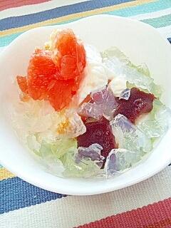 ダイエッターにも☆寒天のせケーキ&団子ヨーグルト♪