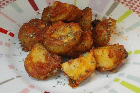 トマト味の簡単おつまみポテト