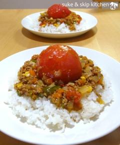 丸ごとトマトのドライカレー