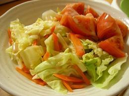 トマトとキャベツの温野菜サラダ