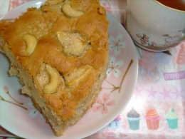 カシューナッツとリンゴのケーキ