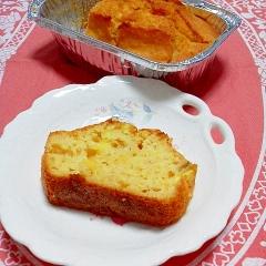 ちょっとでも低カロ!薩摩芋とおからのパウンドケーキ