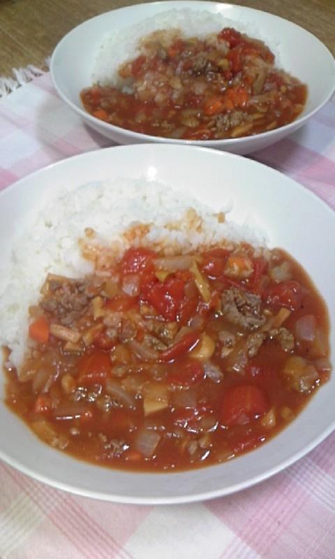 トマト缶de簡単ハヤシライス♪