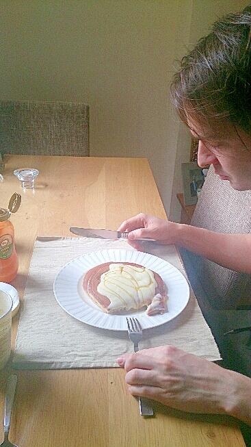 ふわふわヨーグルトパンケーキ簡単です!