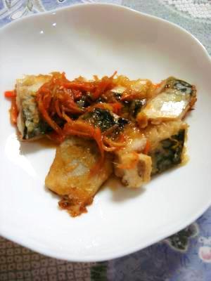 野菜でヘルシー★サバの甘酢炒め