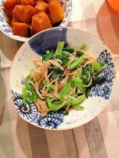 妊婦食☆小松菜ともやしの胡麻和え