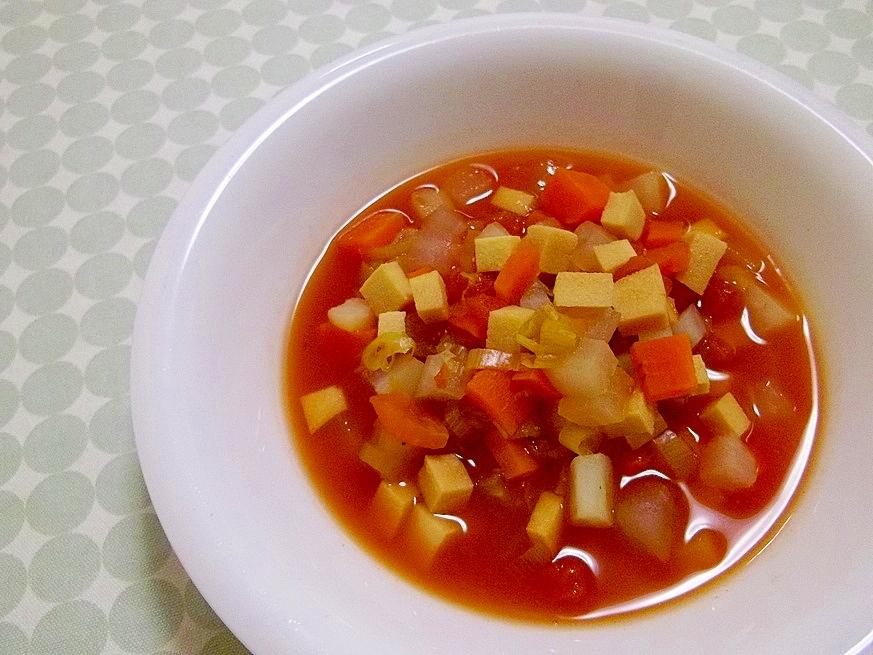 お野菜たっぷり☆桜えびと根菜のトマトスープ☆