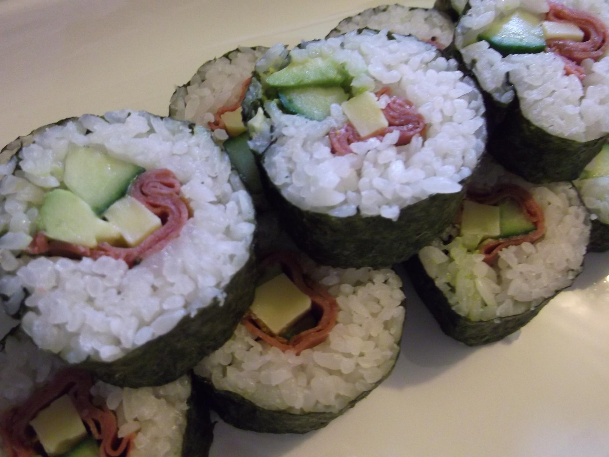 ローストビーフ&チーズで☆洋風巻き寿司