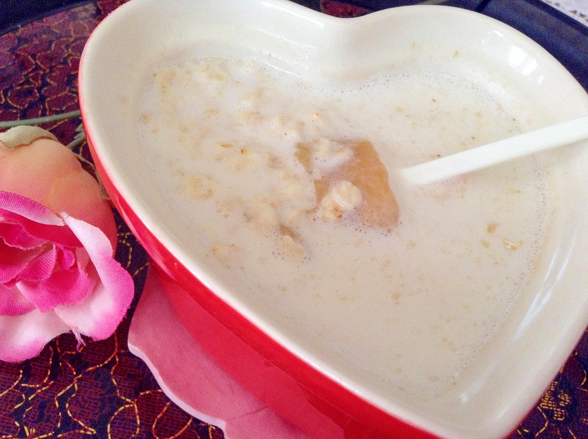 ココナッツミルクとオートミールのスイーツ