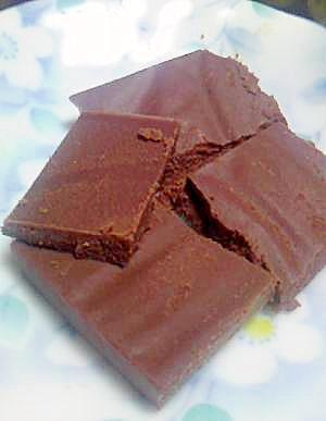 電子レンジで簡単♪低糖質なスイートチョコレート♪