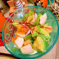 アボカドと卵の中華風サラダ
