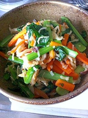 ビタミンBたっぷり小松菜の切干し大根煮