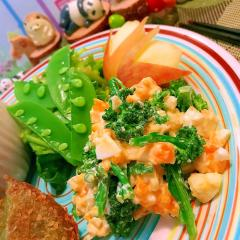 菜の花と卵の柚子胡椒マヨサラダ