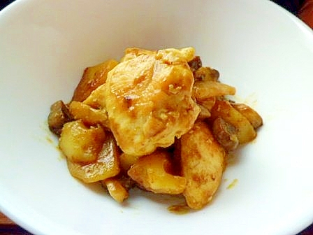 ポテト・マッシュ・チキン炒め
