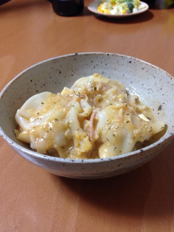6. ラビオリ豆乳煮込み
