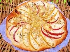 減塩☆リンゴのスペイン風ピザ・コカ
