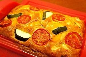 ルクエで夏野菜ケークサレ