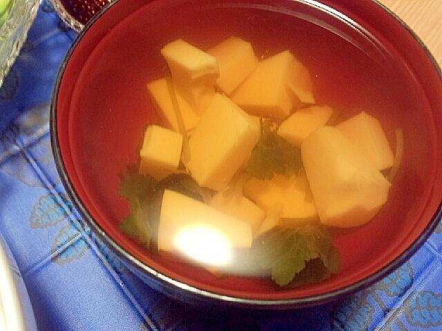 卵豆腐でお吸い物♪