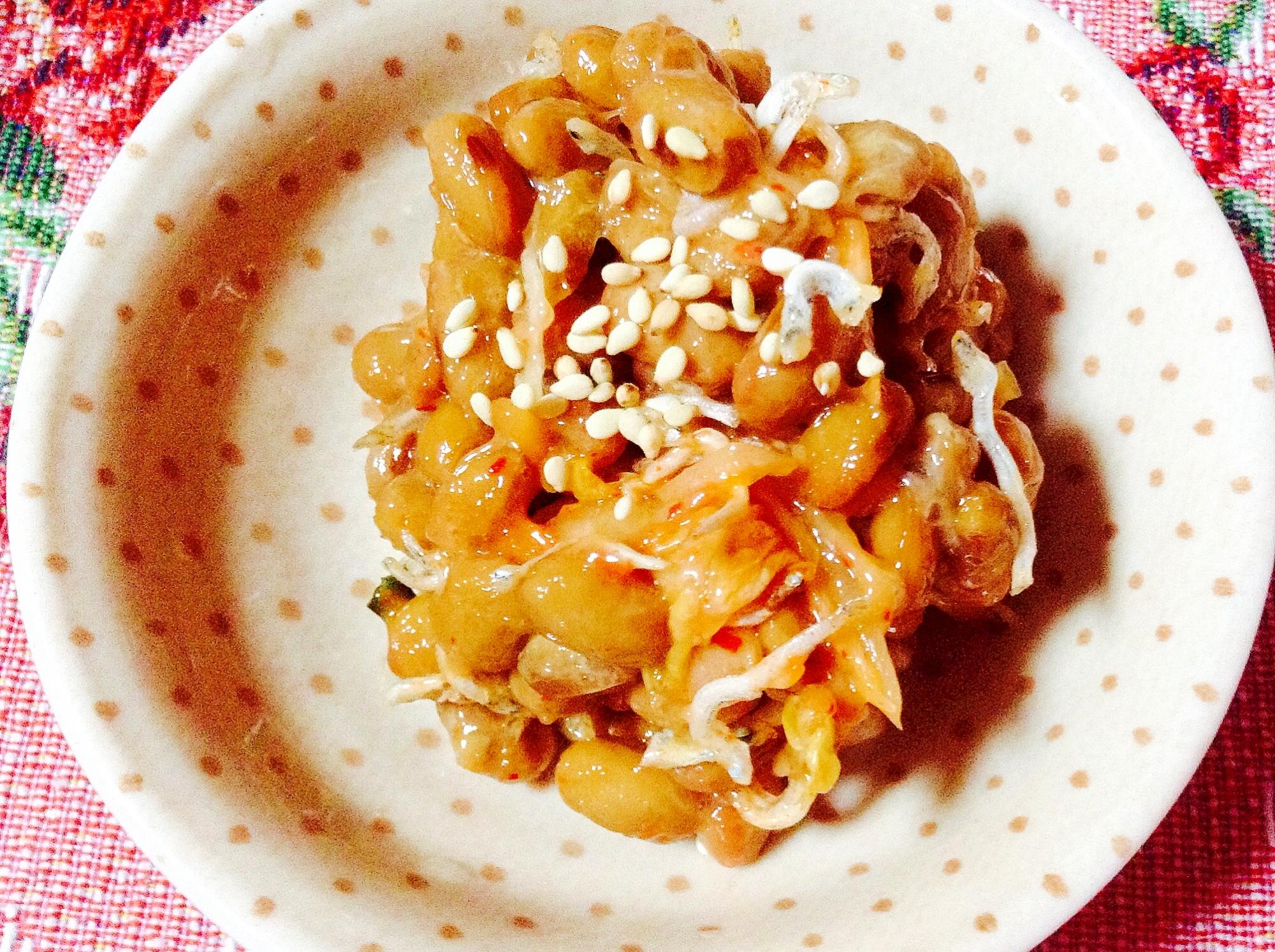 キムチジャコ胡麻納豆