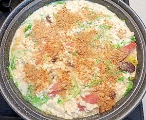 タジン鍋で作る!豆乳鍋