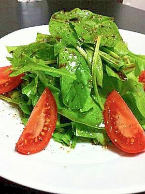 ほうれん草とトマトのバルサミコサラダ レシピ・作り方 by HIDE1027 楽天レシピ