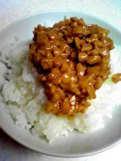 オリーブオイル入り納豆ご飯