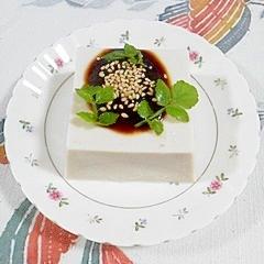 ゴマ豆腐に、田楽みそ&セリ