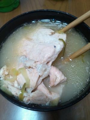 簡単うまーい鮭のあら汁☆
