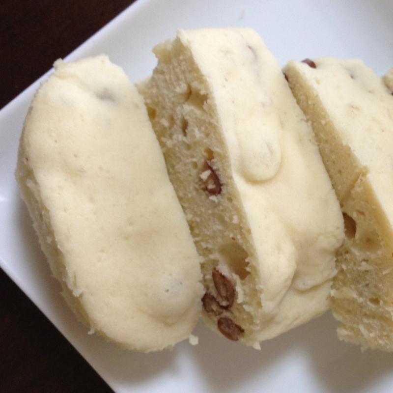 素朴な味わい☆金時豆ときび砂糖の蒸しパン