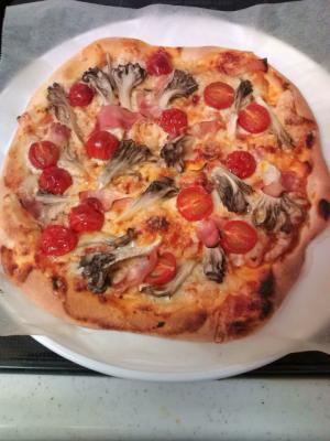 おうちで手作り、あっさりピザ