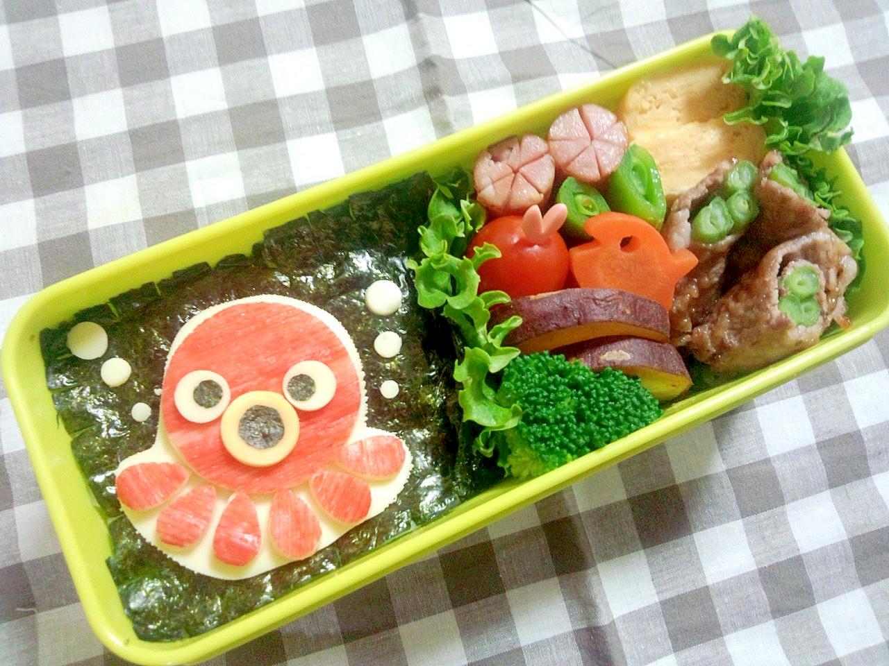 簡単キャラ弁☆タコちゃんのお弁当♪