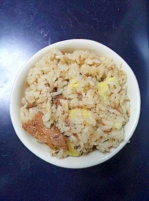 さつま芋とさんまの炊き込みご飯