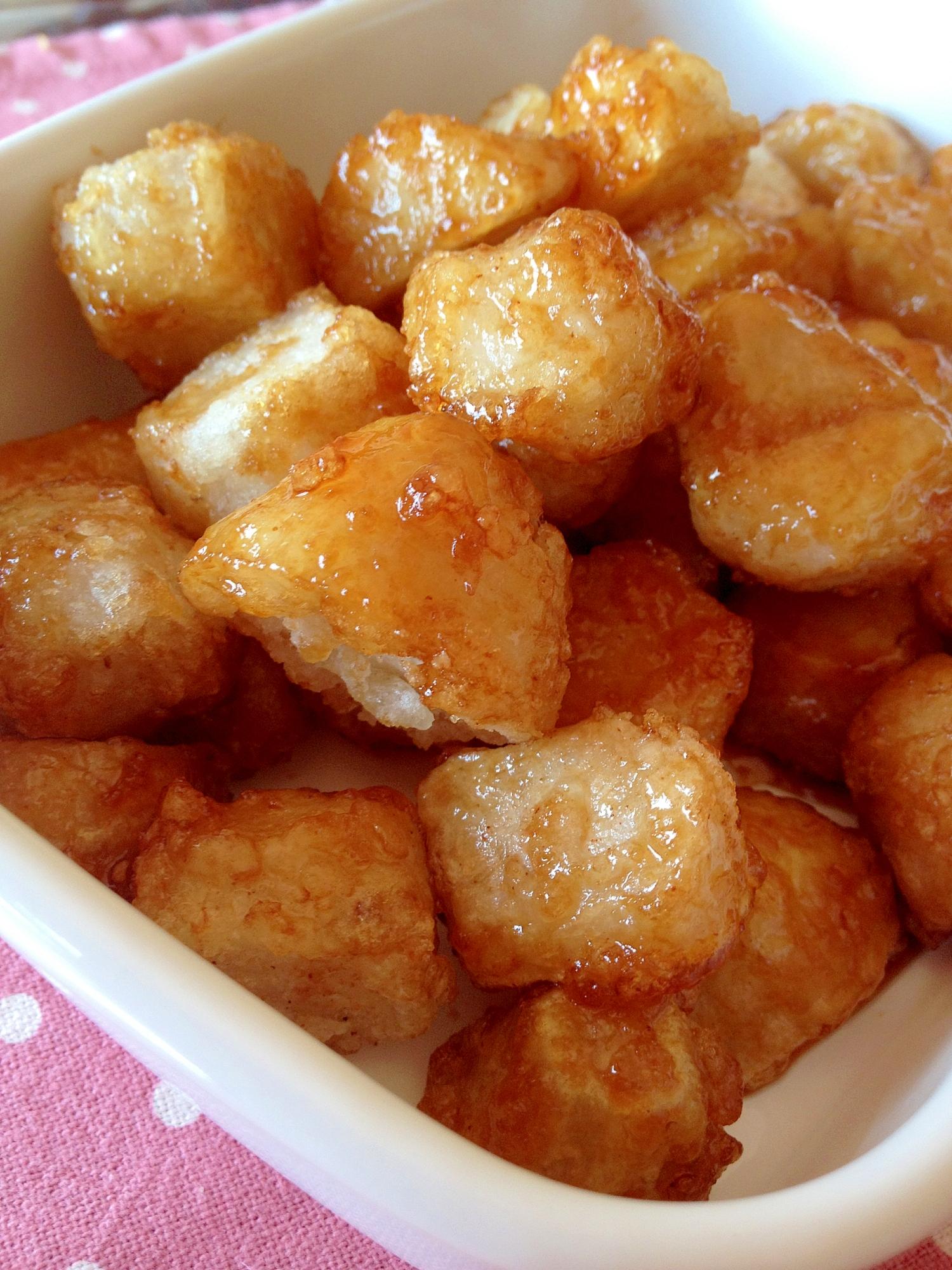 食べだすと、とまらない*里芋から揚げの甘辛* レシピ・作り方