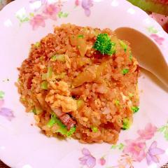 野菜たっぷり豚の角煮炒飯