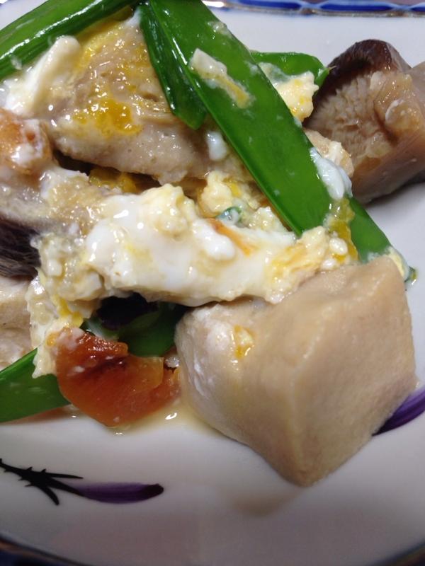 彩り良くした高野豆腐の煮物(^^)