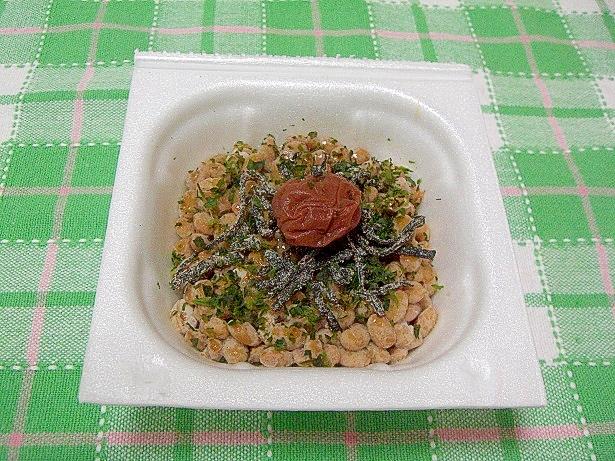 梅昆布とあおさ納豆