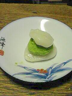 エンドウ豆餡で簡単和菓子