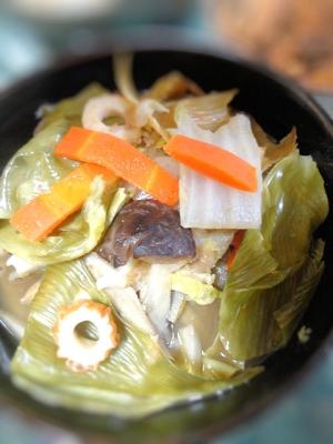 京のおばんざい★甘湯葉と白菜の煮物