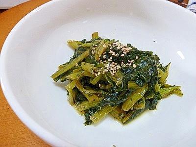 小松菜の簡単さっぱりお酢煮♪