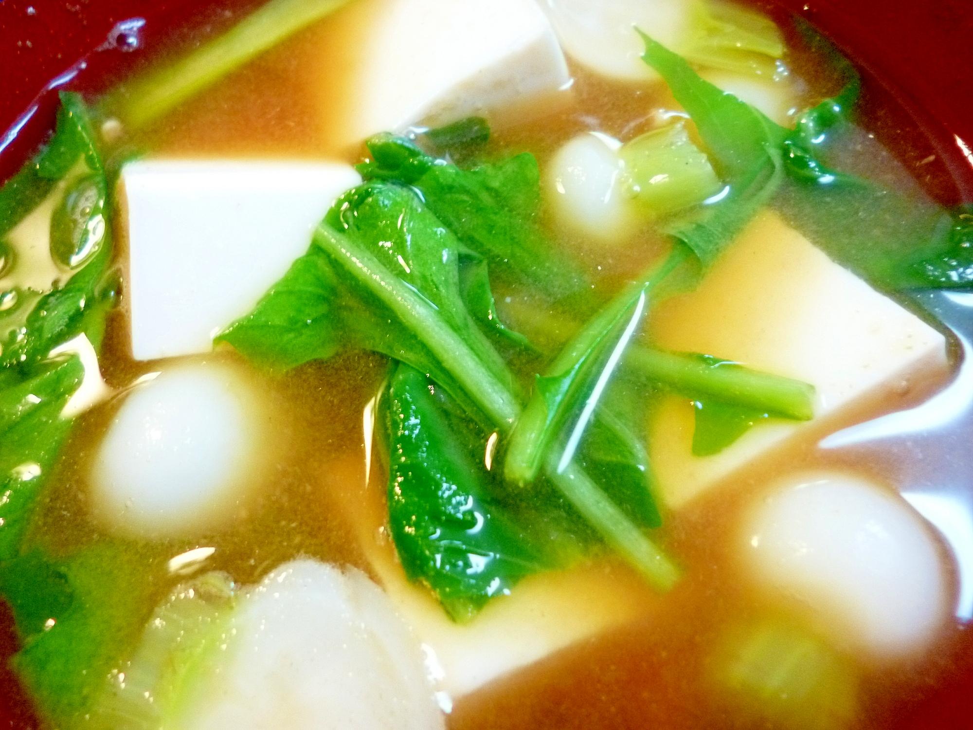 かぶ・豆腐のお味噌汁