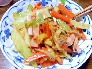 食べるラー油で作る野菜炒め
