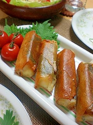 焼いてサクサクモチモチ☆大葉とチーズのお餅春巻き! レシピ・作り方 by はちわれ413|楽天レシピ