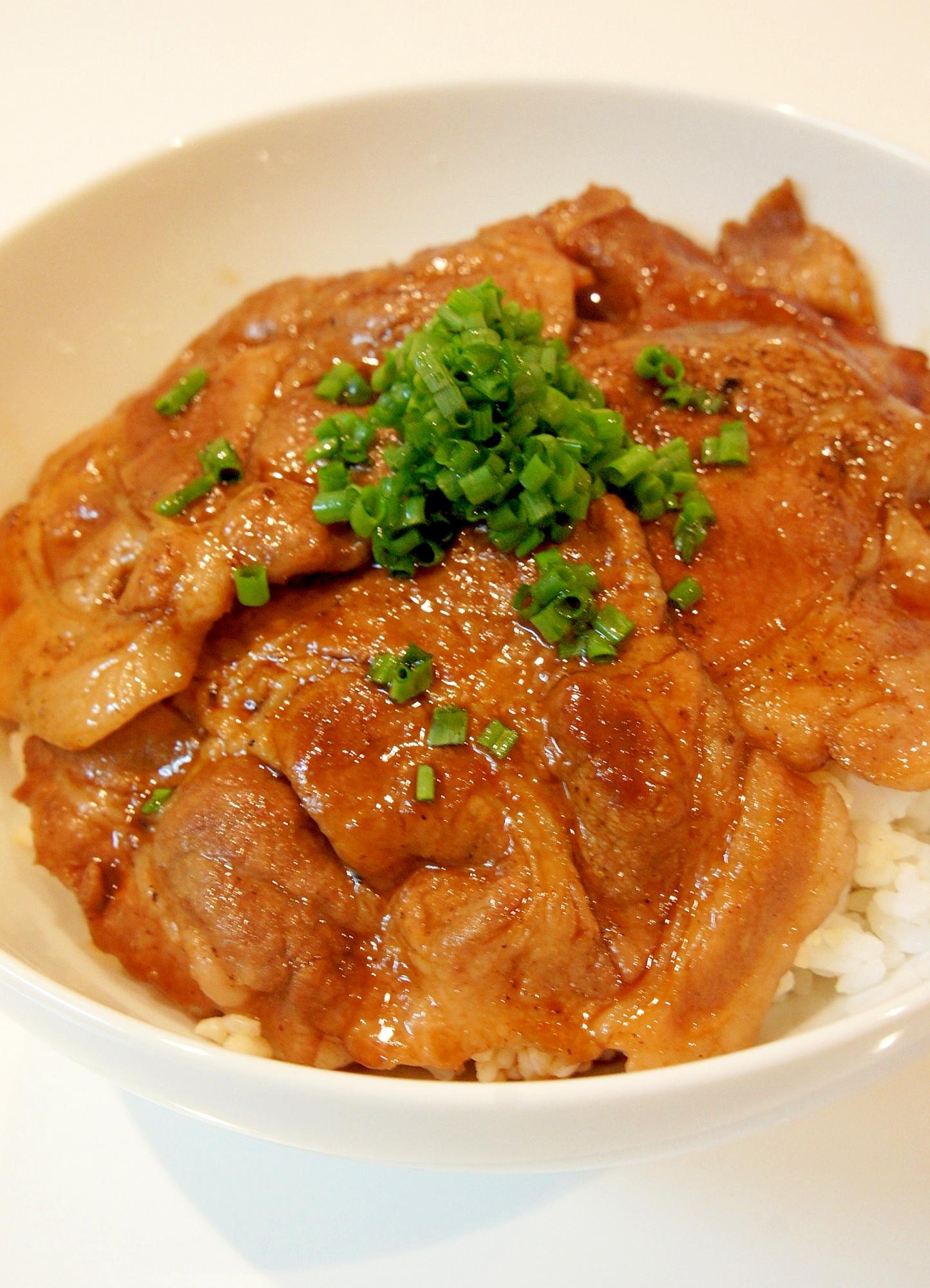 おうちで簡単☆北海道帯広名物♪豚丼 レシピ・作り方