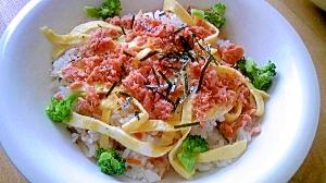 鮭とブロッコリーのちらし寿司