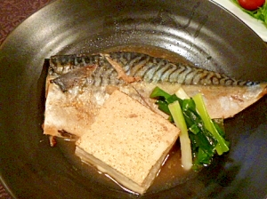 鯖と豆腐のさっと煮
