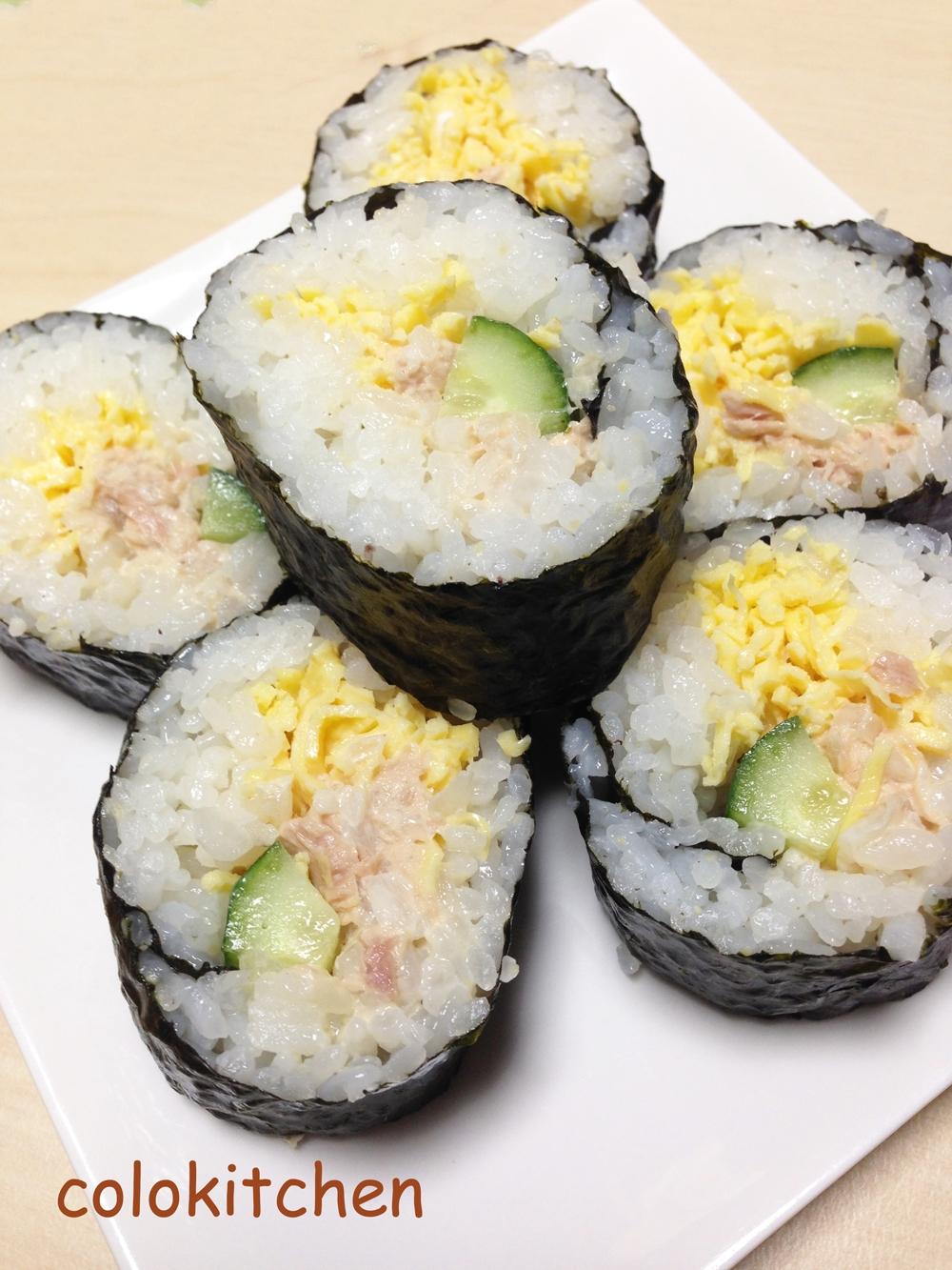 節分!!サラダ恵方巻き(巻き寿司)